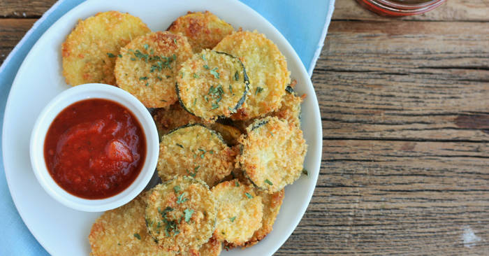 Healthier Fried Zucchini Chips