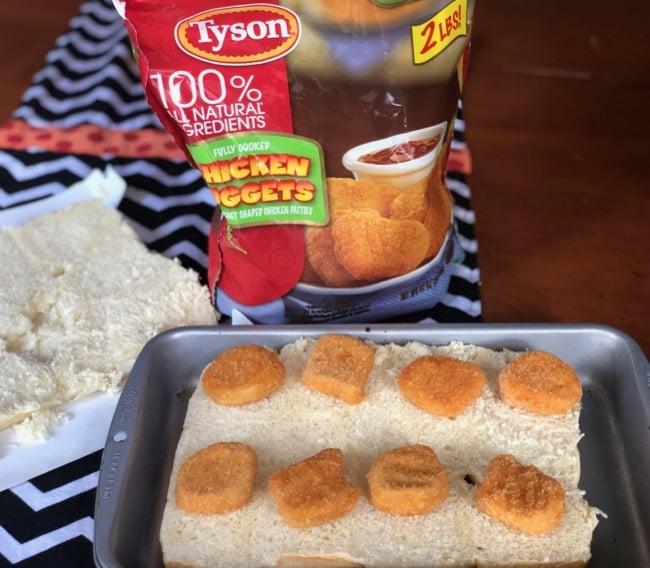 easy chicken nugget sliders