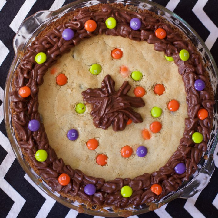 Candy Bar Chocolate Chip Cookie Cake