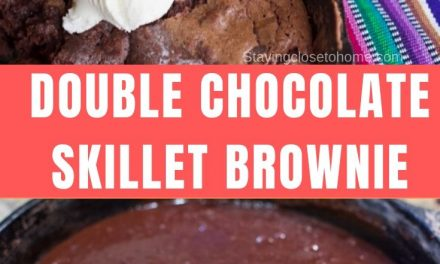 One Pan Double Chocolate Skillet Brownie Recipe