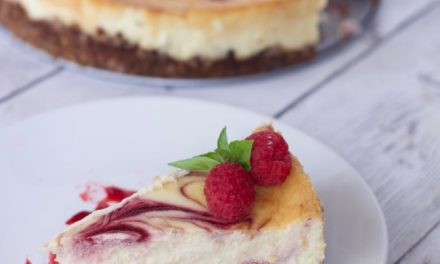 Amazingly Easy White Chocolate Raspberry Cheesecake