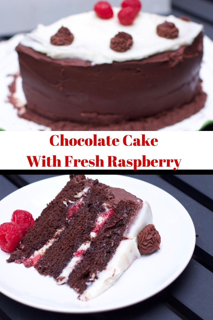 Chocolate Cake with Fresh Raspberry
