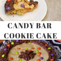 Candy Bar Cookie Cake
