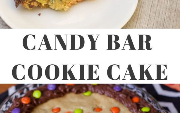 Candy Bar Cookie Cake (Leftover Halloween Candy)