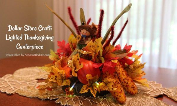Dollar Store Craft: Lighted Thanksgiving Centerpiece