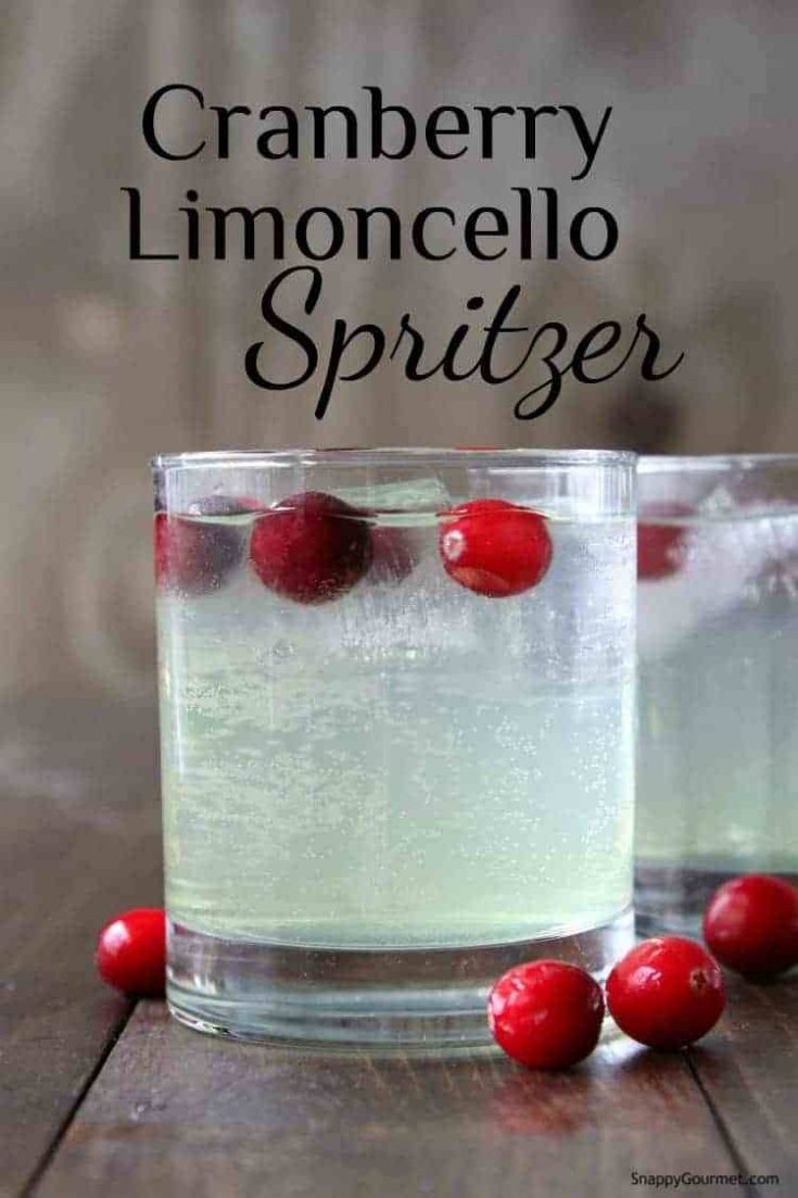 Cranberry Limoncello Spritzer Drink (Italian Cocktail)