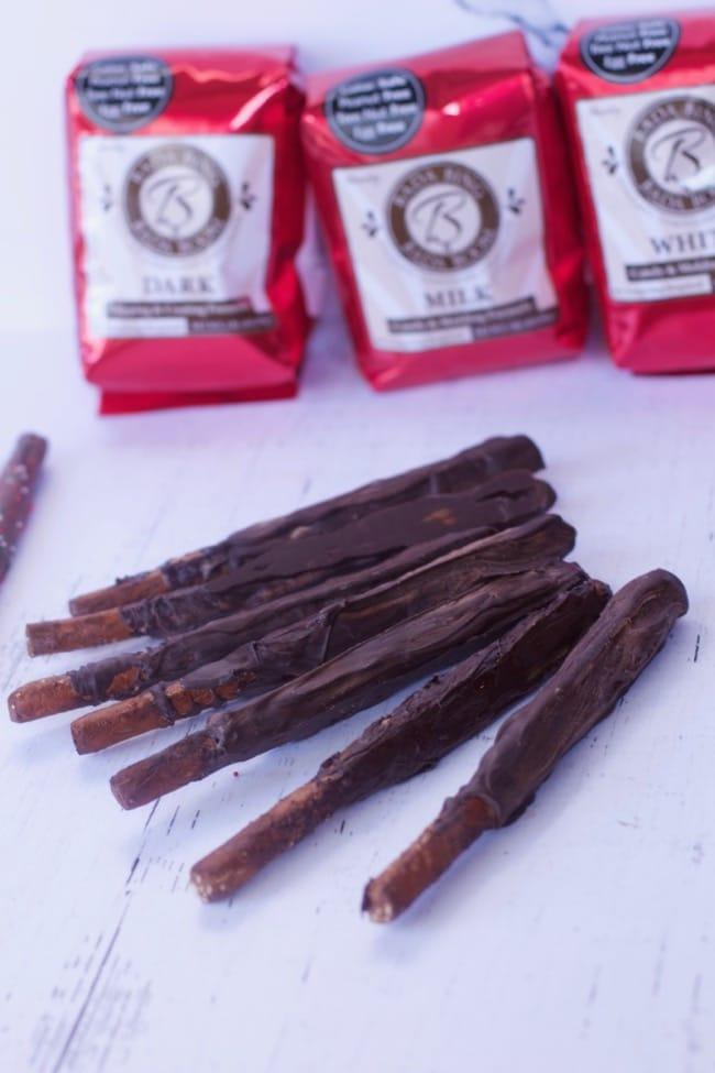 Chocolate Covered Pretzel Rods