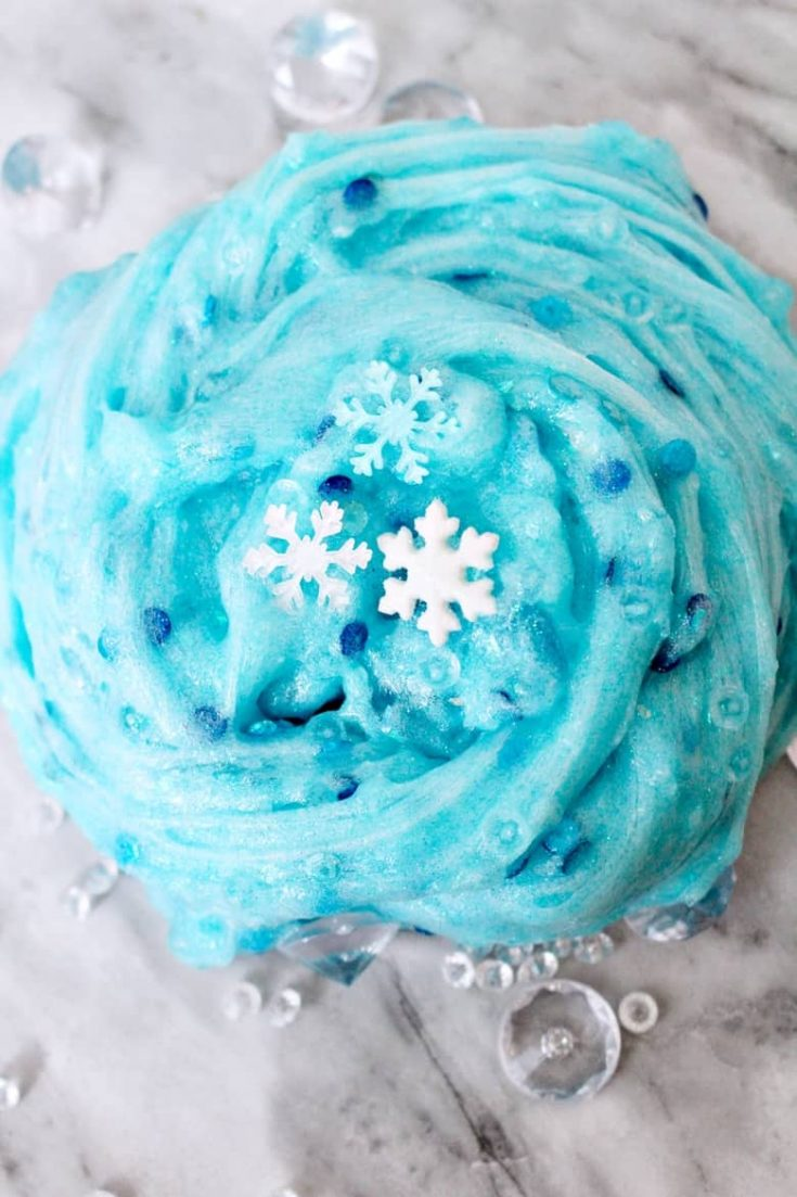 Elsa-Themed Frozen Slime for Winter Sensory Play