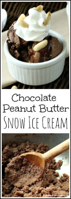 Chocolate Peanut Butter Snow Ice Cream Recipe