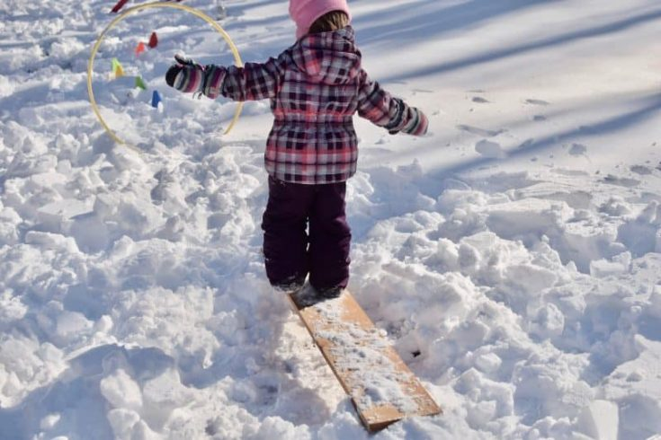 Snow Obstacle Course- Winter Fun That Will Totally Tire Your Kids Out |