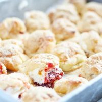 Peanut Butter and Jelly Profiteroles