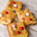 Easy Cake Mix Cookie Bars with Pudding (Chocolate Chip M&M)