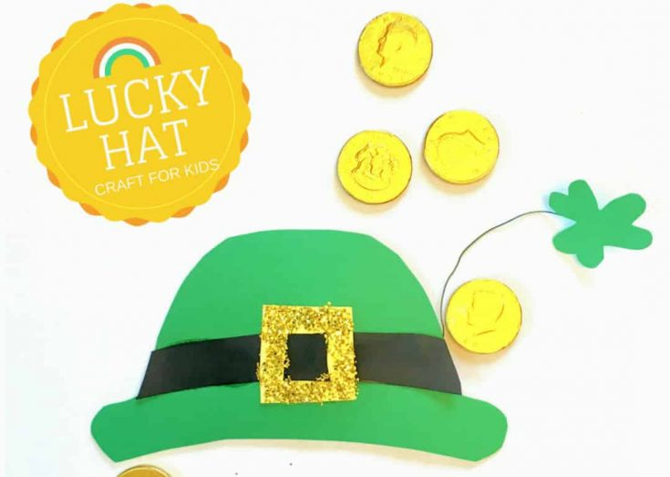 St. Patrick's Day crafts for kids: Leprechaun Hat Template