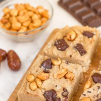 White Bean Blondies with Peanut Butter & Chocolate | Sugar-free & Vegan