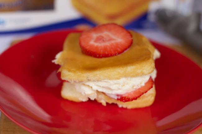 Strawberry Shortcake Ice Cream Sandwich