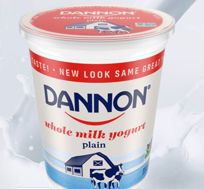 Dannon Yogurt new packaging