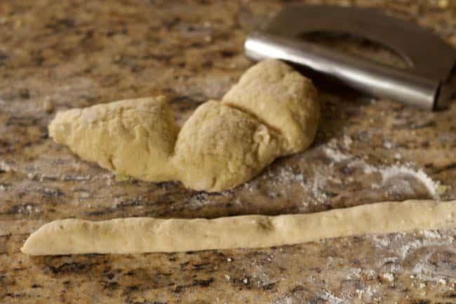 how to cut homemade gnocchi