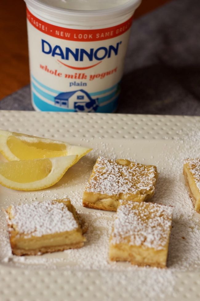 how to make Yogurt lemon bars