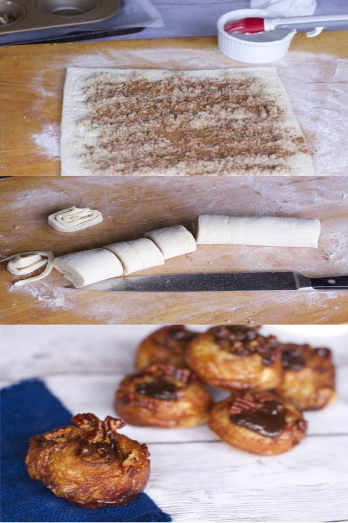 puff pastry sticky buns