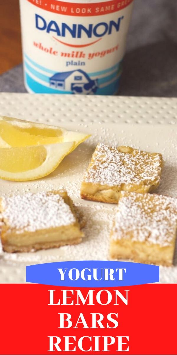 YOGURT LEMON bars