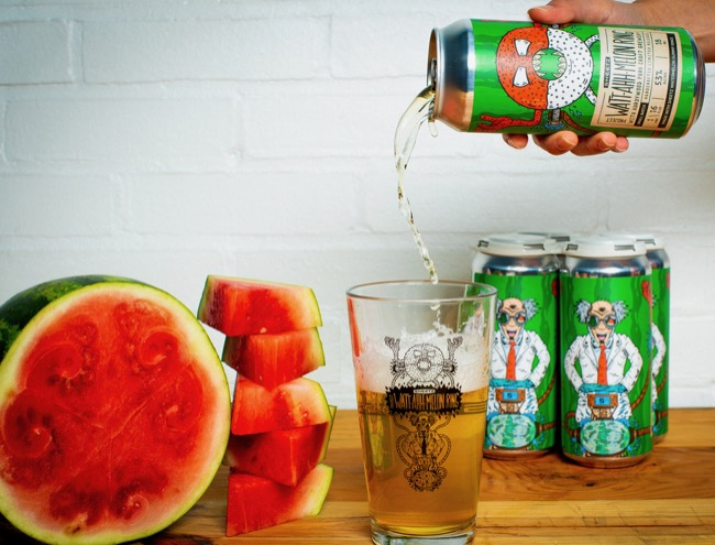 pouring watermelon beer