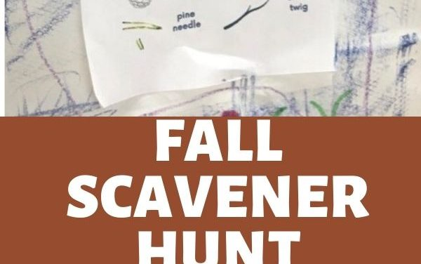 Fall Scavenger Hunt and Art Project for Kids