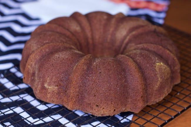 a slice of pumpkin cake recipe