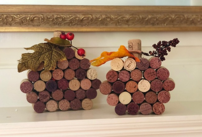 two wine cork pumpkin sizes