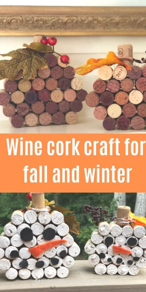 wine cork craft for fall and winter
