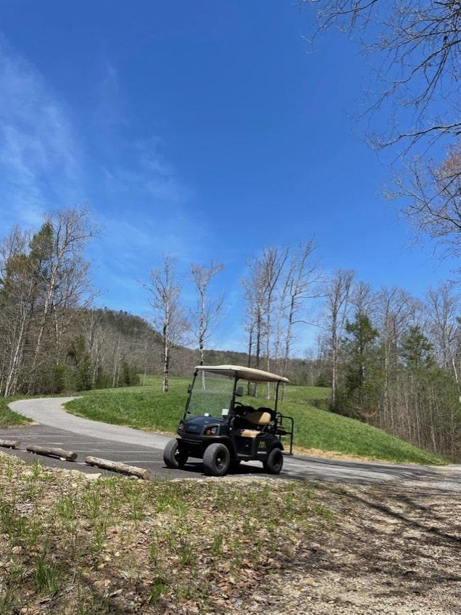 property golf cart blackberry mountain