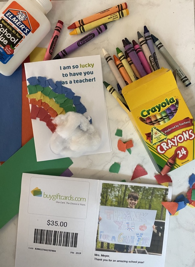 kid crafted gift cards