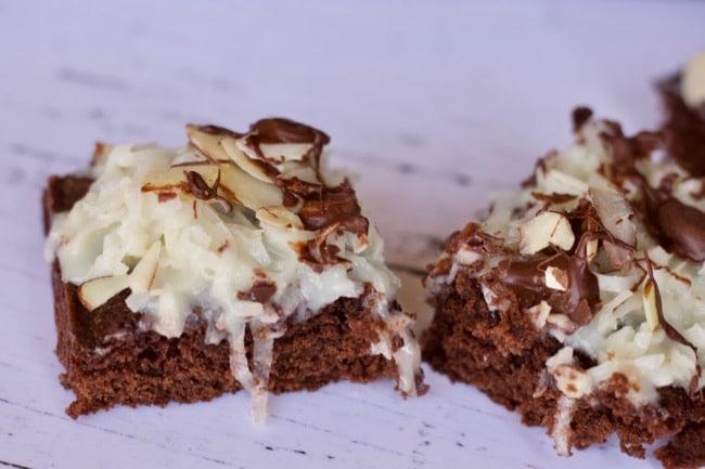almond joy topped brownies
