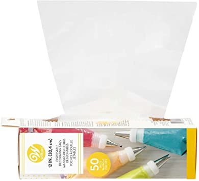 Wilton 12-Inch Disposable Cake Decorating Bags, 50-Count Pastry Bags