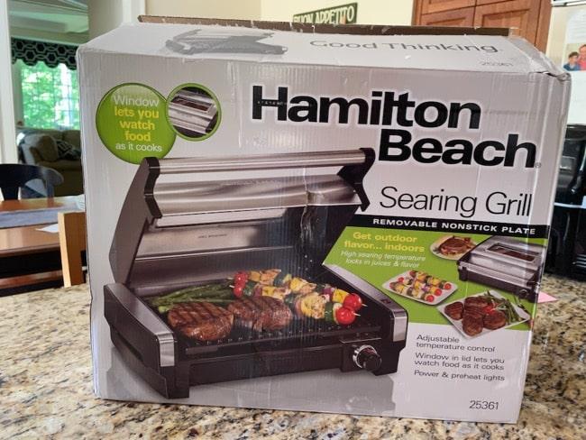 Hamilton beach searing grill with food window