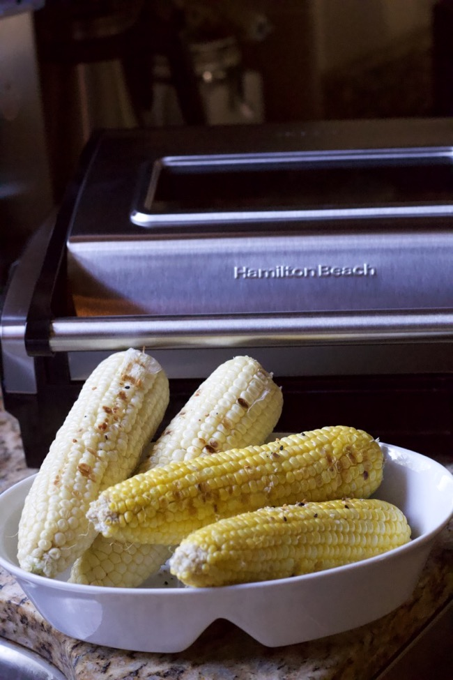 How to grill corn inside grill