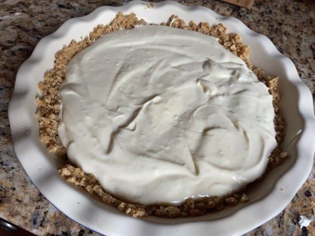 before baking cheesecake pie recipe