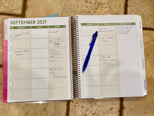 paper meal planners